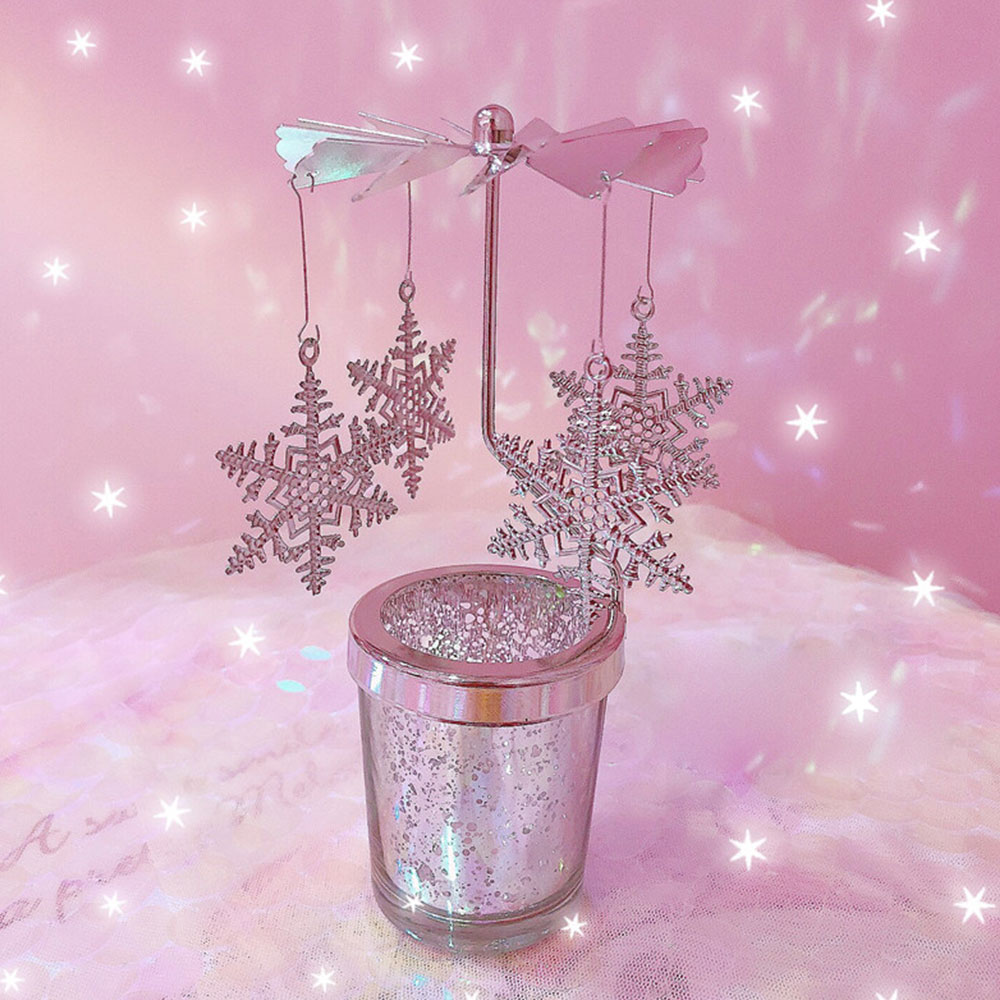 Romantic Birthday Gifts For Her, Lovely Revolving Candle Star Cup for Girlfriend, Lovers, Confidant