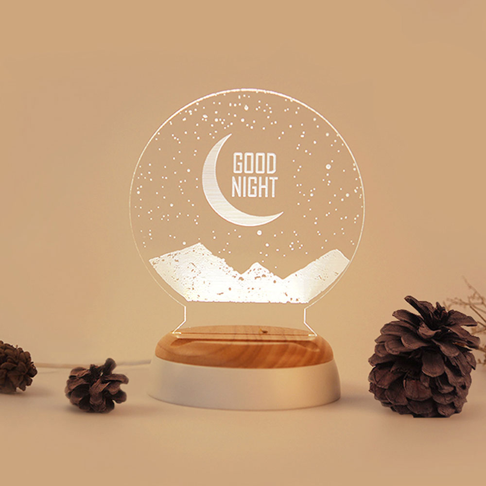 Girlish Birthday Present, 3D Night Light for Girls Confidant on Christmas Day, Creative Lettering Customized Night Light for Girlfriends