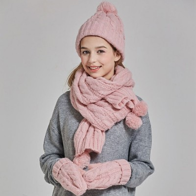 Gloves, Scarves & Hats for Women Anti-coldness Christmas Gift, Wool-added Thickened Korean Style Lovely Gift for Warmth