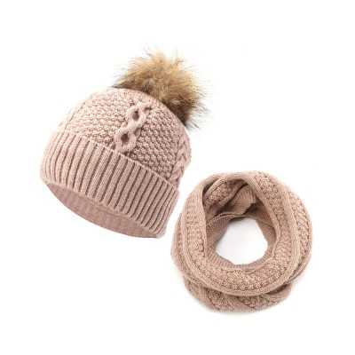 Thick Women Scarf Cap Suit, Warm Soft Acrylic Knitted Snood Face Neck Warmer Cravat Beanies