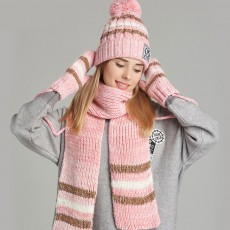 Winter Hats, Scarves & Gloves with Warm Plush, Comfort Soft Knitting Wool Knitted Snood Face Neck Hand Warmer Cravat Beanies