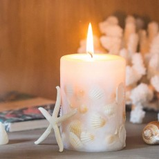 Essential Fragrance Oil Smokeless Scented Candles, Romantic Sea Shell Wedding Decoration Purify Air Candles