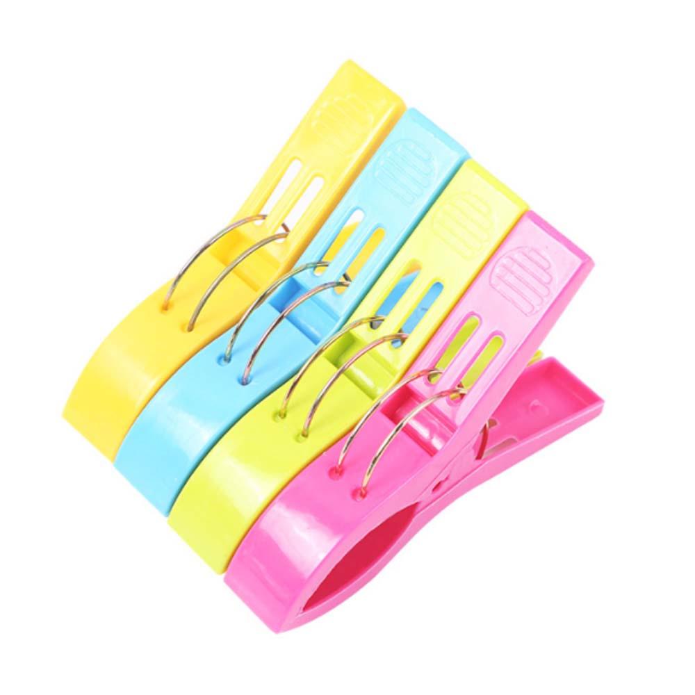 Clothespin Clip Large Hanger, Windproof Plastic Clip Laundry Supplies Tools, 1 Set of 4 PCS