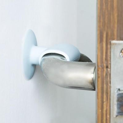 Anti-collision Door Knob Wall Protector, Shockproof Crash Door Stopper Wall Pad Silent Pad with Sucker Design