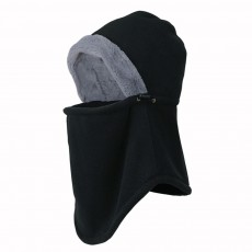 Women's Hooded Scarf & Hat, Warm Polyester Fibre Minimalist Unify Hat Scarf With Imitation Rabbit Fur Lining