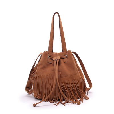 Ladies Bucket Bag Luxury Cross Body Handbags, Women Tassels Single Shoulder Bags Messenger Bags