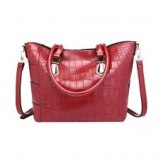 Fashion Wild Simple Shoulder Bag With Smooth Hardware Zipper, Crocodile Elegant Portable Handbag for Ladies
