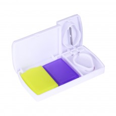 Travel Medicine Pill Case with Pill Cutter, Moisture-proof First Aid Organizer Dispenser Pill Case Storage Container