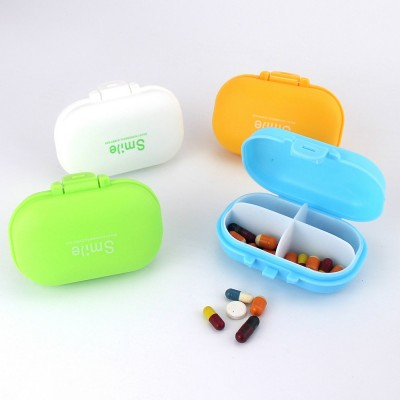 Large 4 Times A Day Pill Organizer, Dustproof 4 Grids Tablet Pills Portable Storage Case