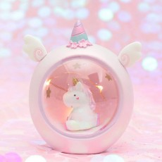 Creative Cute Unicorn Furnishings Home Decor, Durable Resin Shell New Year Birthday Present for Friends Ladies