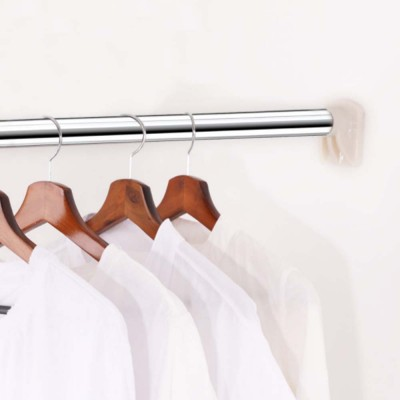 Telescopic Shower Curtain Rod Free Punching Clothes Rod Balcony Lifting Rod Stainless Steel Bold Curtain Straight Rod