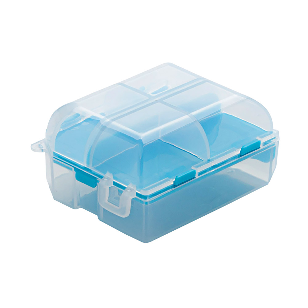 Double-Sided Pill Box, Portable Separate Compartments Organizer Medicine Drug Storage Container Box