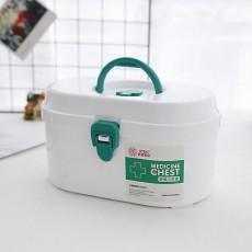 Household Medicine Chest Pill Storage Box, Portable Plastic Emergency First Aid Pill Drug Kit Box