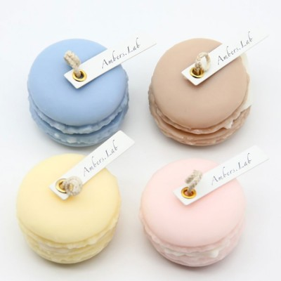 Cute Macaroons Candle, Valentine's Day Weeding Birthday Decorative Furnishing