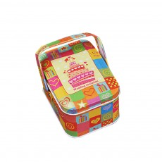 Portable Candy Box with Cover, Iron Storage Box for Weeding, Party, Gathering, Gift Bag Sugar Box
