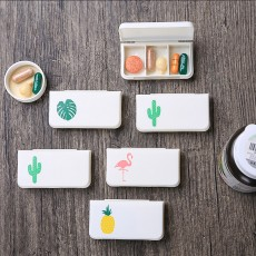 Small Pill Box For Pocket Three-part Mini Pill Box Cute Travel Drugs Dispenser