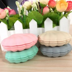 Scallop Pill Storage Box Multi-function Silicone Dustproof Storage Box for Capsule Candy Jewelry Gadgets
