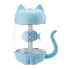 Mini Humidifiers For Bedroom, Kitten Humidifier For Air Multifunctional USB With Fan, Light Mute Humidification