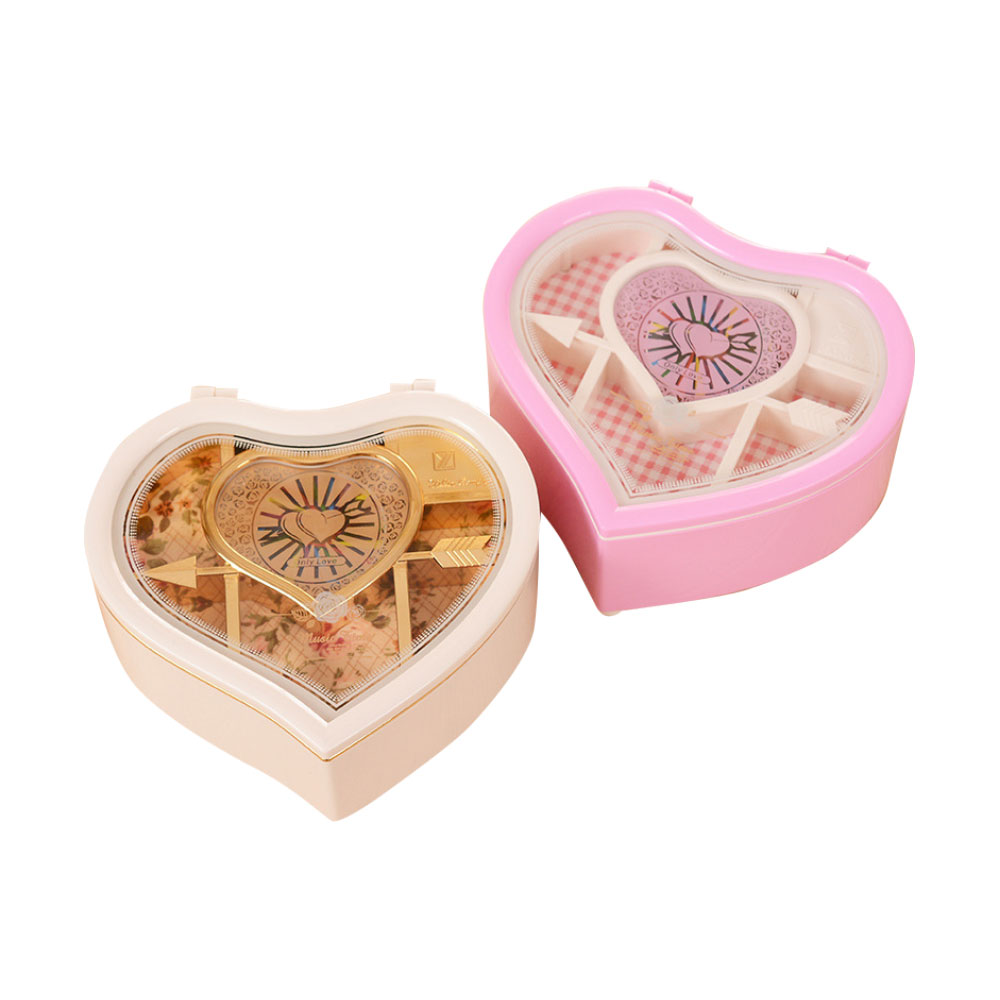 Heart Shape Music Box, Plastic Rotating Music Box for Girls, Gift for Valentine's Day, Christmas, New Year