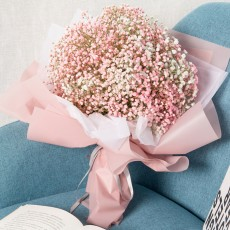 Artificial Babysbreath Flower Wedding Party Home Decor, Baby's Breath Bouquet Dried Flowers for Valentine's Day Gift