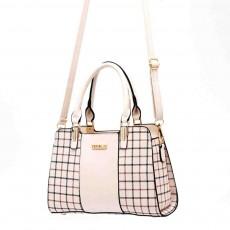Plaid Handbag With Detachable Shoulder Strap And Exquisite Metal Buckle, Fashion Elegant PU Leather Bag for Mother