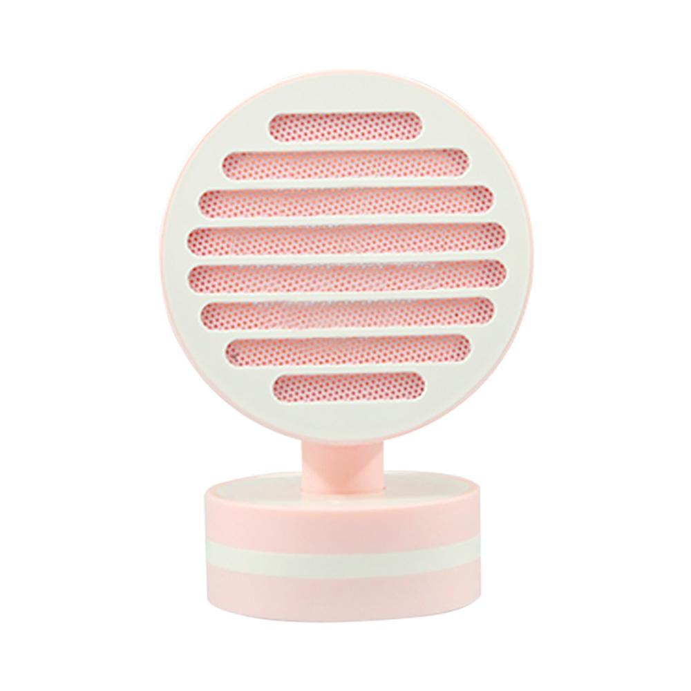 Mini Table Fan Heater, Potable Pivoting Warm Air Blower, Electric Energy-efficient Noiseless Heater Fans