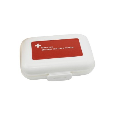 Dustproof Medicines Storage Boxes with Cross Labels, Portable 8 Grids Weekly Tablets Pill Case
