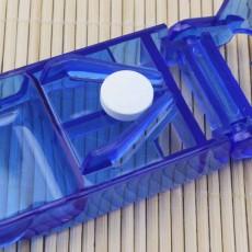 Tablet Cutter Splitter Portable Translucent Pill Storage Box Medicine Pill Holder