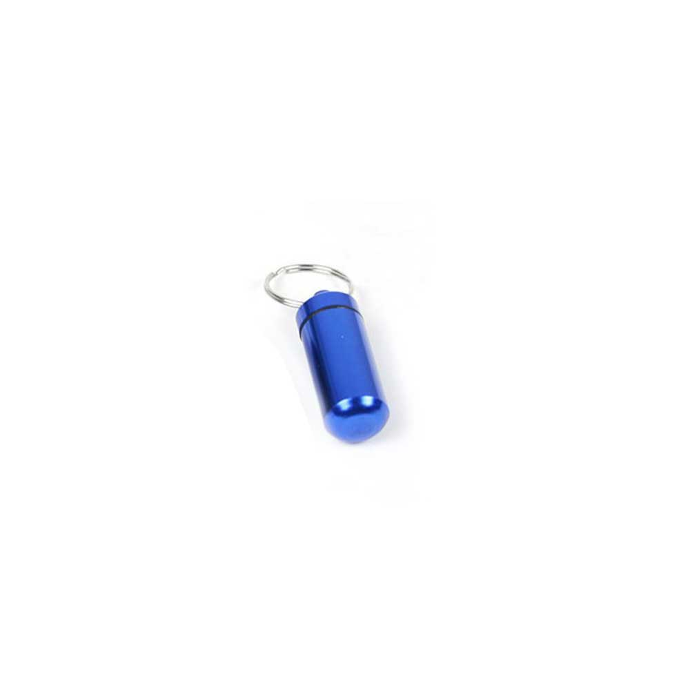Tablet Storage Bottle with Key Chain, Waterproof Medicine Holder, Aluminum Alloy Mini Medicine Box Sealed Case