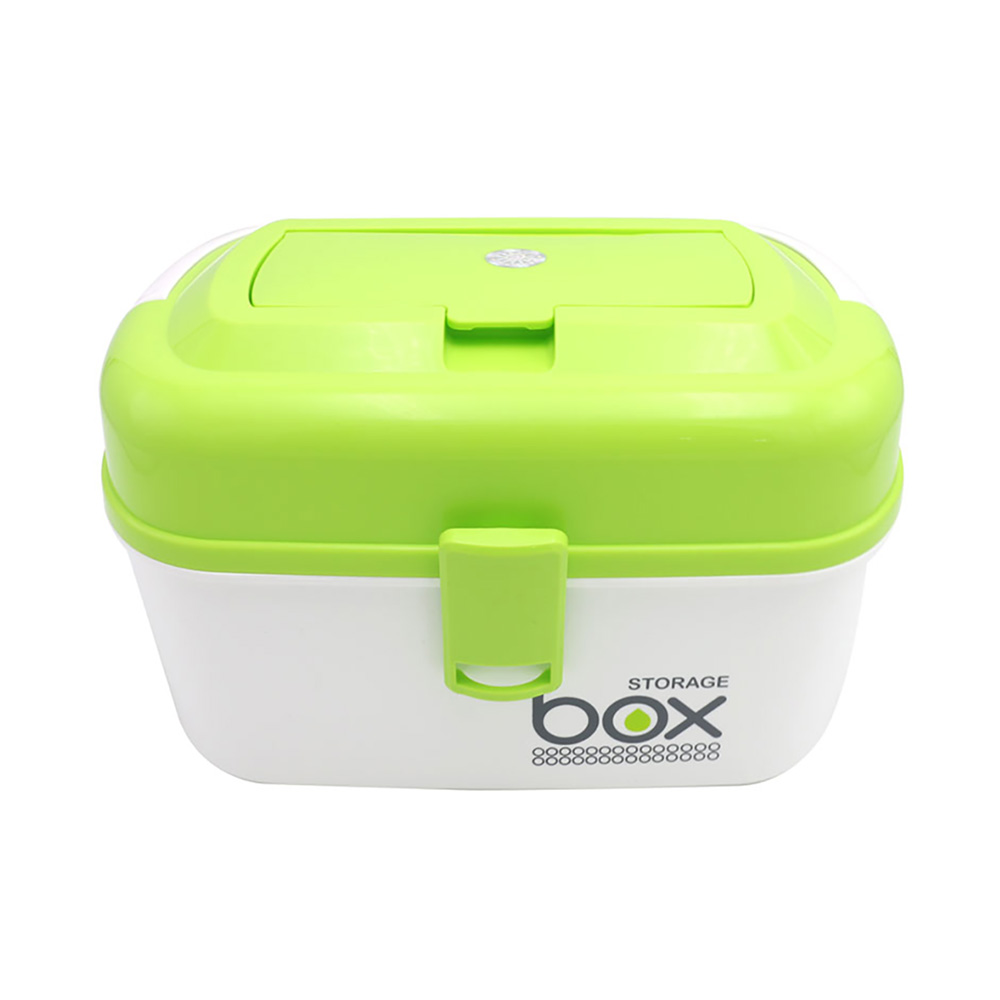 Portable Medicine Box, Family Double-layer Plastic Sealed Pill Storage Box, Large-capacity