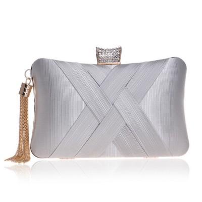 Imitation Silk Evening Bag, European and American Ladies Banquet Clutch, Ladies Dress Evening Handbag