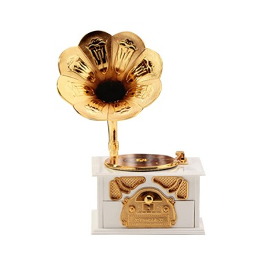 Phonograph Music Box for Home, Office Decoration, Vintage Style Gift Phonograph Music Case