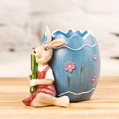 Lovely Easter Pen Pot Pencil Container, Cartoon Bucolic Rabbit Brush Pot
