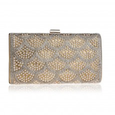 Flower Evening Bag, Ladies Fashion Banquet Handbag, High-quality Polyester Evening Clutch