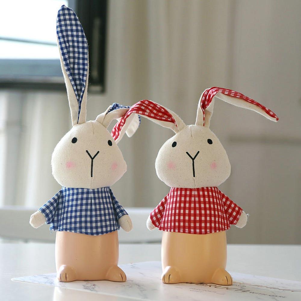 Cartoon Cloth Rabbit Piggy Bank, Lovely Cartoon Rabbit with Flower Pot Design for Birthday/Easter Gifts