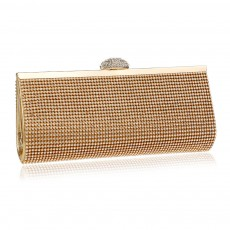 Diamond-encrusted Evening Bag, European and American Ladies Banquet Handbag, Polyester Dress Clutch