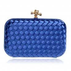 Small Square Dinner Clutch, Woven Chain Ladies Banquet Bag, Polyester Shoulder Diagonal Package Bag