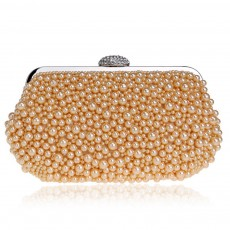 Pearl Dinner Bag, Ladies Luxury Party Bag, High-quality Polyester Evening Party Banquet Bag