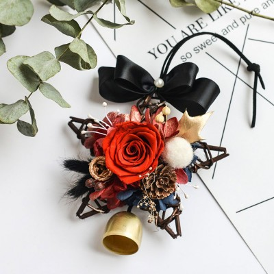 Preserved Flower Immortalized Real Rose Car Hanger Decoration