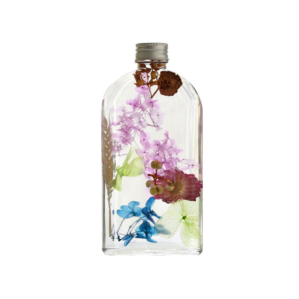 Preserved Flower Floating Herbarium Glass Bottle Decoration for Gift
