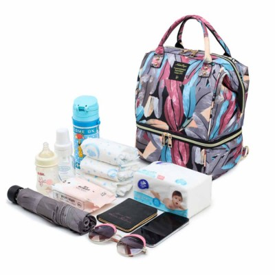 New Women Backpack Oxford Multifunctional Bag for Carrying Baby's Brings Diaper Warm-box Mummy Pack