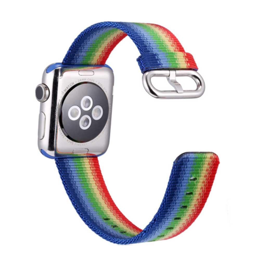 Rainbow Watch Band Nylon Band, Fashionable Watch-belt New Strap, Matching Apple Watch 38/42mm