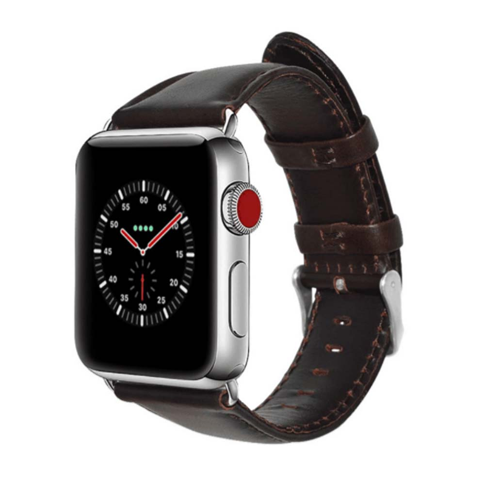 New WatchbandCowhide Leather Casual Belt for Apple Four Generation Watch Classical Strap