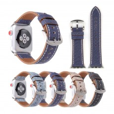 New Watch Band Genuine Leather Strap Cowboy Grain Belt for Apple Watch, 38mm and 42mm