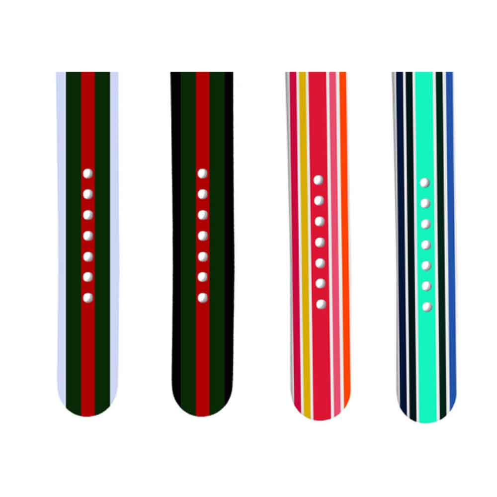 Silicone Watch Band Sport Band for Apple Watch Multiple Model Striped Watch-strap, 38-42mm