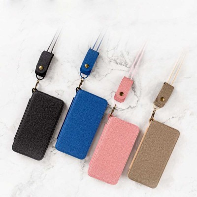 Matte Texture Phone Case with Inside Mirror for iPhone 6,6S,6P,6SP,7,8,7P,8P,X,XS,XS Max,XR Samsung Note 8,S8,S8 Plus, Built-in Mirror Folio Phone Cover