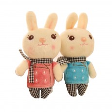 Windbreaker Rabbit Plush Toy, Bunny Bear Doll Small Pendant For Children And Shopping Mall Furnishings
