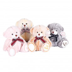 Bow Tie Bear Plush Toy, Grab Doll Machine Toys, Gifts for Decorating Housing and Cars