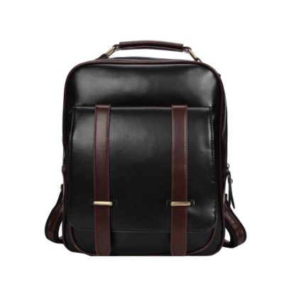 Japanese Style College School Bag Vintage Casual Zipper Flap PU Leather Shoulder Bag Fashion Accessories