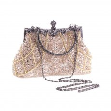 Moonlight Flower Beaded Embroidered Bag with Classic Cheongsam, Evening Bag For the Bride, Bridesmaid